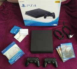 Título do anúncio: PS4   PlayStation 4   1TB   Slim   Completaço