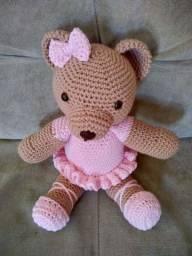 Urso amigurumi bailarina