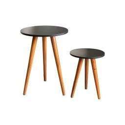 Mesa de Canto Luara Retrô (conjunto com 2 peças)