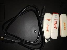 Cabo HDMI e adaptador de chip para Pc ou notebook