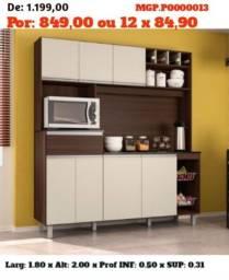 Armario de Cozinha- Cozinha- Kit de Cozinha Grande - Barata - Saldão
