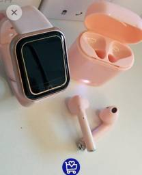 Relogio smartwatch d20 e fone i7s