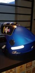 Capacete PROTORK NEW LIBERT 3 THREE ELITE AZUL FOSCO