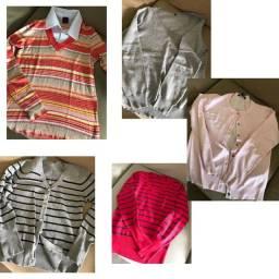 Lote 5 blusas de lã