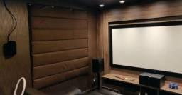 Cortina Acústica Térmica Black Out Isolamento Abafa Latido (( Valor Por Metro Quadrado ))