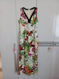 Título do anúncio: Lindo vestido florido longo Tam P