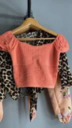 Blusinha Croped de tricô