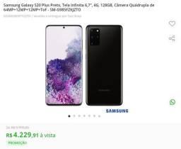 Samsung s20 plus 128 GB 2 meses de uso com nota fiscal