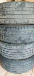 4 pneus 205/55/17 abaixo de meia vida