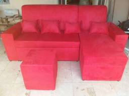 Sofa novo, vai com brinde, temos o marrom e um cinza a pronto entrega