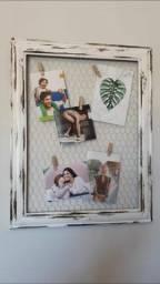 Quadro artesanal e decorativo p/fotos