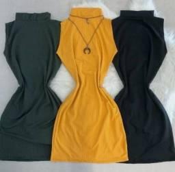 Moda feminina vestidos canelado