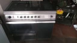 Fogão continental aço inox 06 bocas forno chapa e estufa