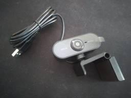 Webcam FullHD 1080P USB automática com Microfone e Redução de Ruído