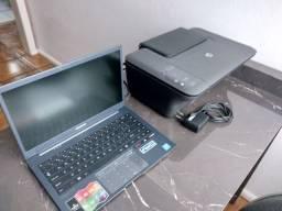 Notebook e impressora