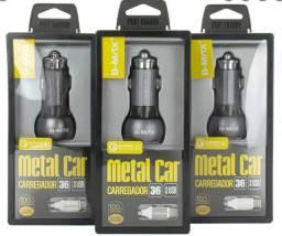 Título do anúncio: Carregador Veicular Turbo Quick Charge 3.0 36W para Celulares (Todos os modelos)