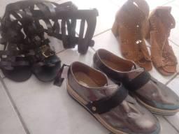 Saptos e sandálias nova e semi novas