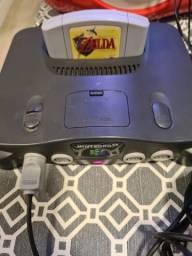 Console Nintendo 64 + Cartucho Zelda Ocarina of Time Nintendo 64 Original