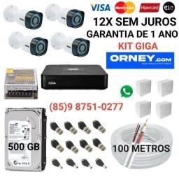 Título do anúncio: Câmeras... kit de 4 câmeras GIGA em 12X SEM JUROS.