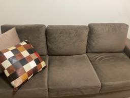 Vendo sofá camurça cor verde escuro