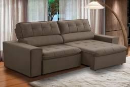 Sofá retrátil e reclinável 2.10cm Novo direto da fábrica