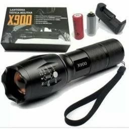 Lanterna Tática Militar X900 Potente Recarregável Completa<br>