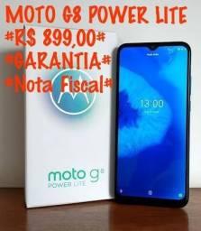 Moto G8 Power Lite com garantia de 6 meses.