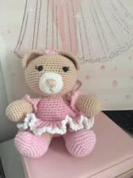 Urso Bailarina Amigurumi Pelucia Artesanato