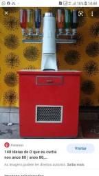 Máquina de sorvete americano retro