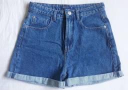 Short Jeans Cintura Alta Novo 40