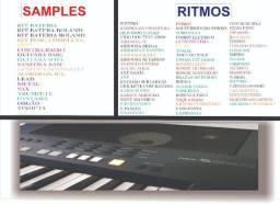 Pen drive com 79 ritmos sampleados para Yamaha s650