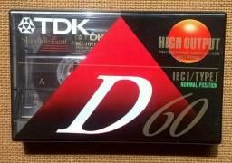 TDK D-60 Fita Cassete Virgem Importada