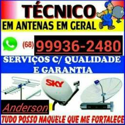 Vc quer instalar sua antena so liga *