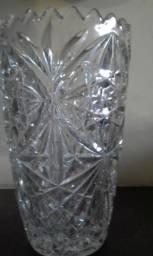 Vaso de cristal lapidado