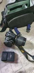 Camera nikon d5200 + lente 18-105 + bolsa