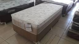 :: Cama Box Com Auxiliar Solteiro + Colchao Elegant Ortobom Molas pocket (88x188);;