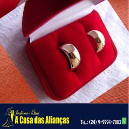 Alianças ouro 18 kilates 7 mm Peso 15 Gramas - Pedra Diamantes 5 Pontos