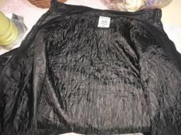 Blusa de frio de couro