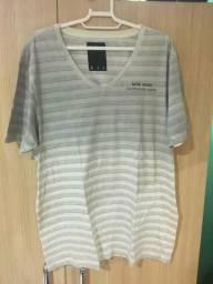 Camisa Calvin Klein Listrada Gola V Gg