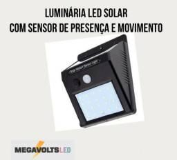Luminária Solar com Sensor de Presença de Led