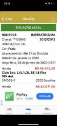 Vendo honda civic 2012 - 2012