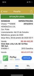 Vendo honda civic 2012 - 2012