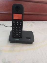 Telefone sem fio Philips com identificação de chamada