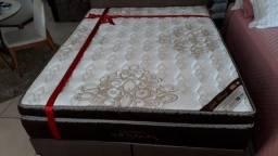 = Conjunto Box Gold Ultra Gel Ortobom molas ensacadas Casal 138x188 mega promoção