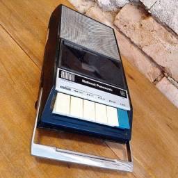 Rádio toca-fitas e gravador portátil National Panasonic
