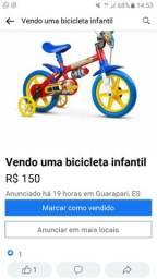 Vendo uma bicicleta infantil semi nova