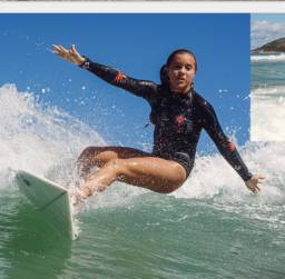 Lycra p/ Surf-Modelo feminino