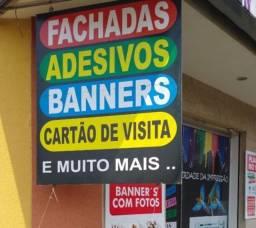 Comunicação visual e gráfica- fachadas em acm, lonas , adesivos, banners, placas, toldos