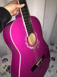 Violão memphis nylon clássico ac39 rosa