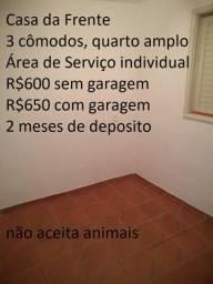 Lindas casas de 2 e 3 Cômodos com garagem R$600/650
